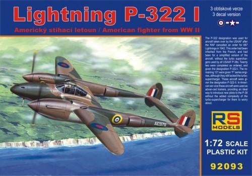P-322-I Lightning 1/72 RS models