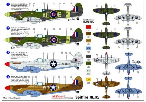 Spitfire Mk.IXc 1/72 AZ model