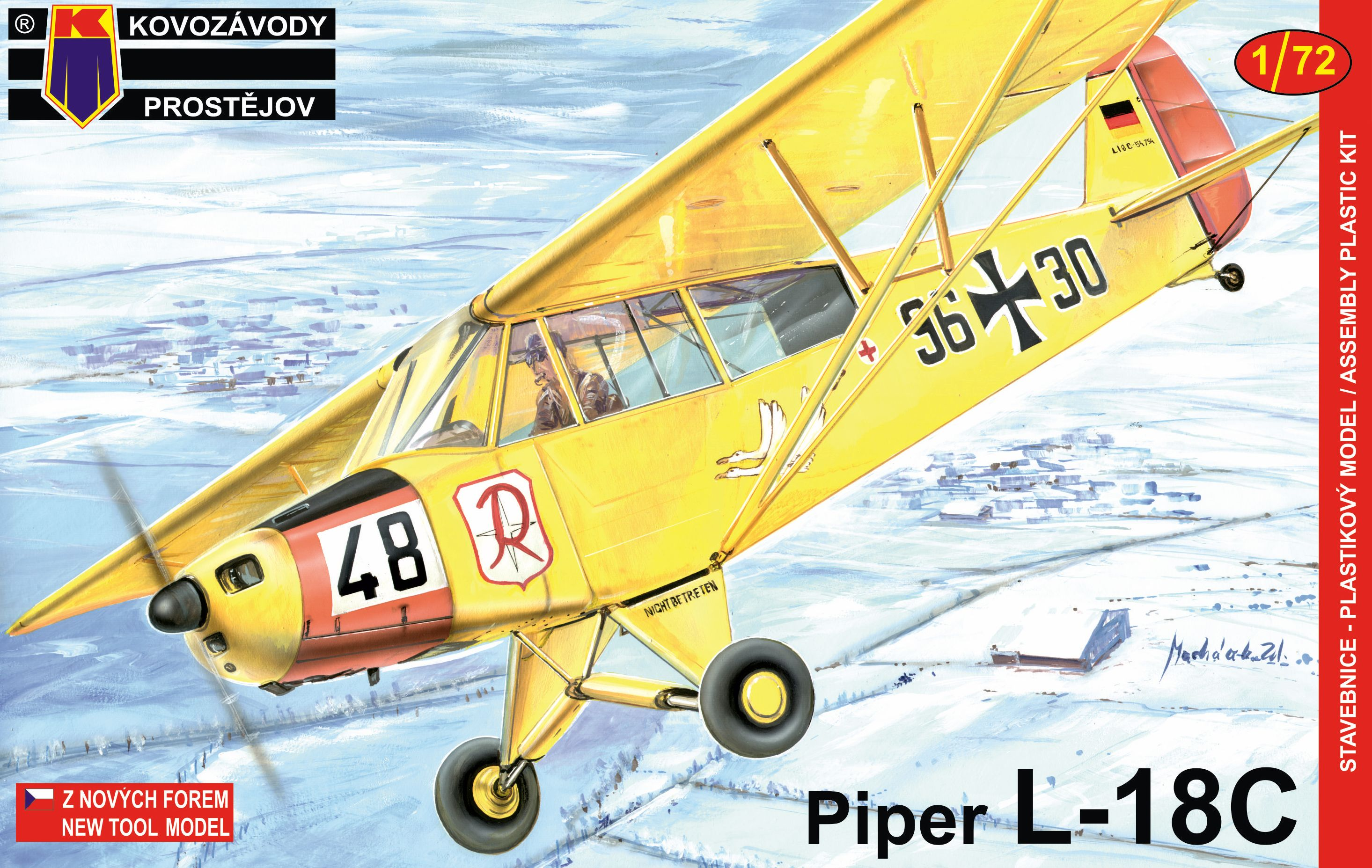 Piper L- 18 C  1/72 KP – redakční test