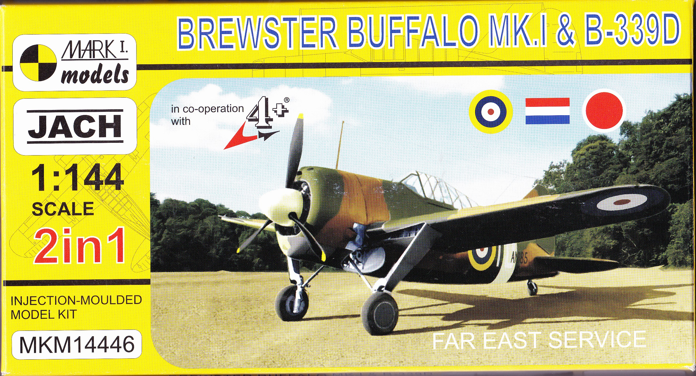 Brewster Buffalo Mk.I&B-339 2in1 1/144 Mark I.