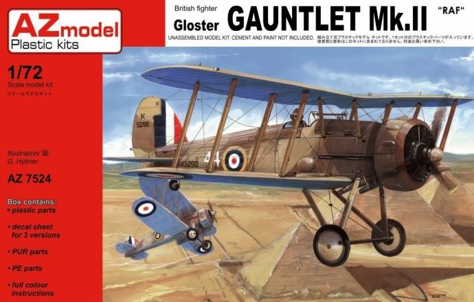 Gloster Gauntlet AZ model 1/72 – pohled do krabičky