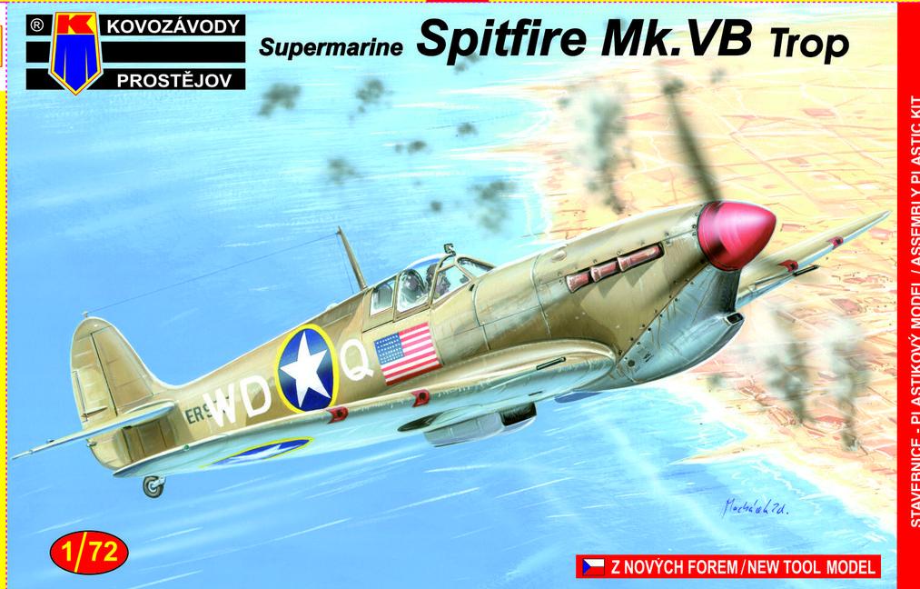 Spitfire Mk. V Trop KP 1/72 pohled do krabičky