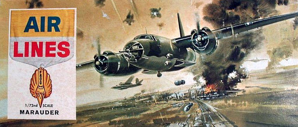B-26 v obalu Air Lines. Pět boxartů této firmy bylo použito na modely NOVO