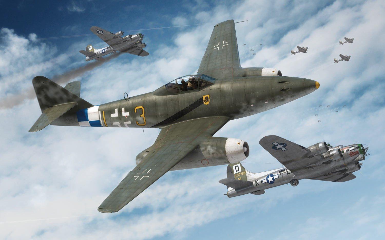 Boxart Me 262 je tradičně akční