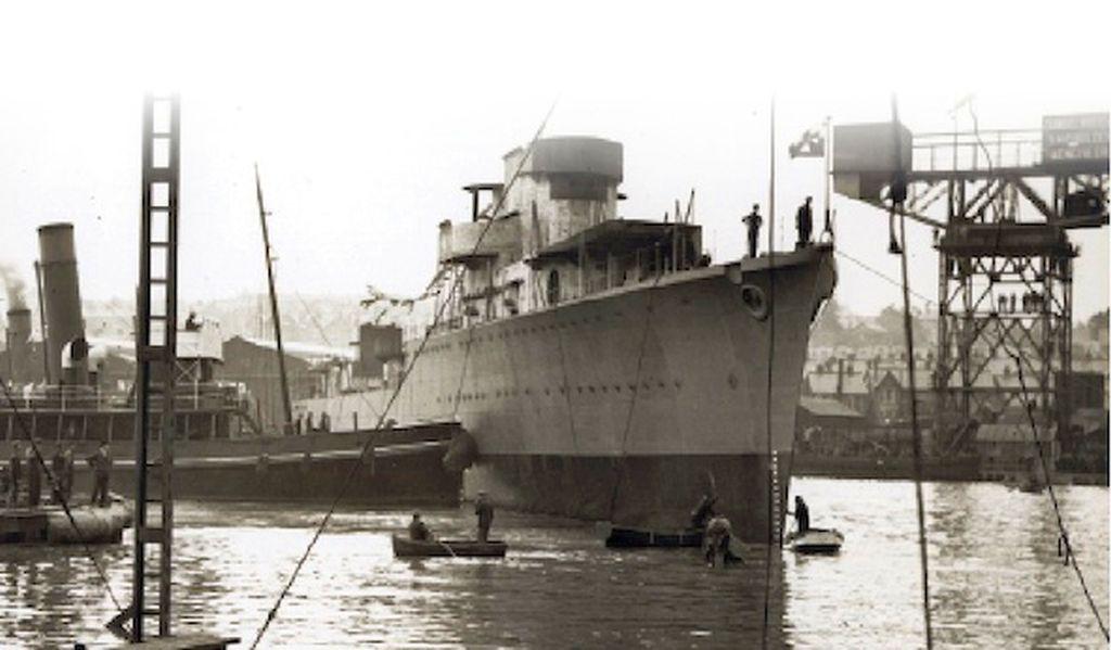 Polský torpédoborec byl postaven v loděnicích v britském Cowes