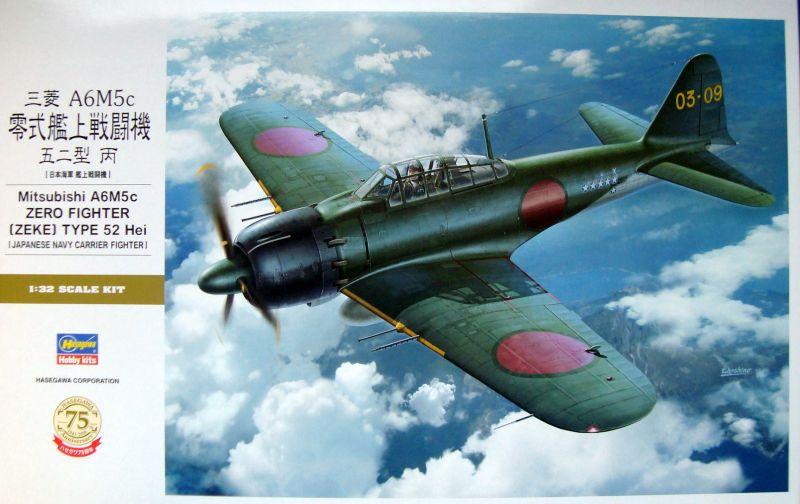 A6M5C ZERO, 1/32 HASEGAWA, NÁHLED DO KRABICE
