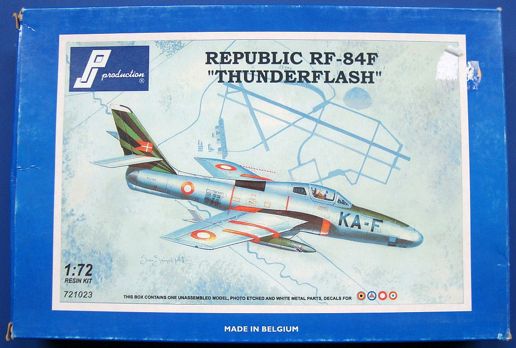 REPUBLIC RF-84F, 1/72 PJ PRODUCTION, NÁHLED DO KRABIČKY