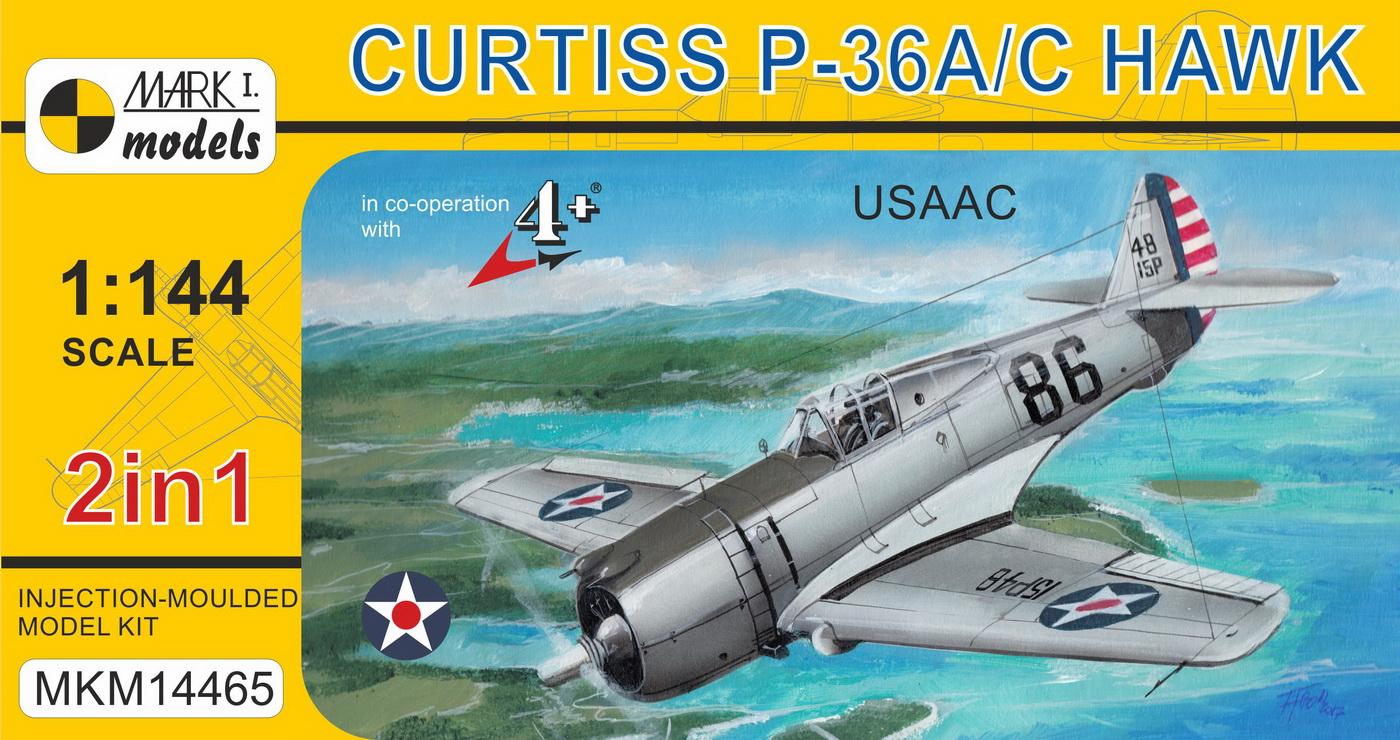 CURTISS P-36/H-75 1/144 MARK I SE PŘEDSTAVUJE