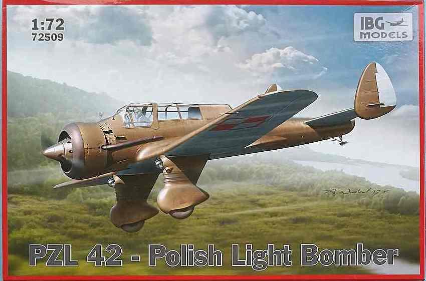 PZL P-42, IBG 1/72, NÁHLED DO KRABIČKY