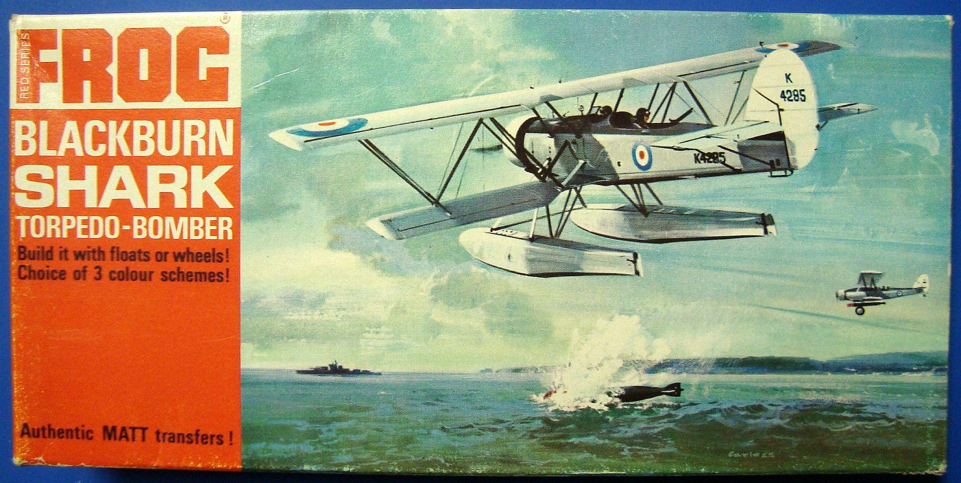 BLACKBURN SHARK, 1/72 FROG, NÁHLED DO KRABIČKY