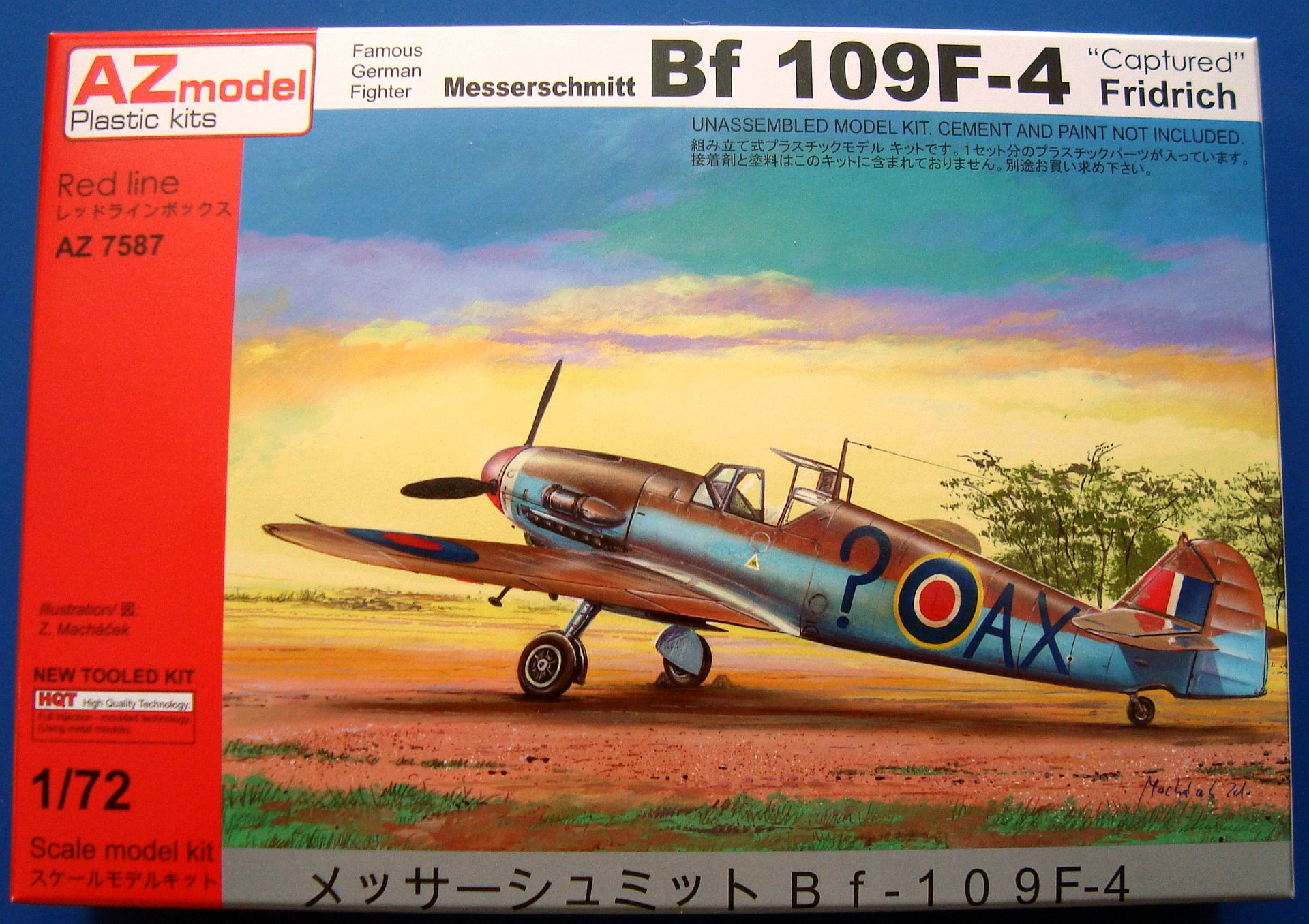 MESSERSCHMITT BF 109F-4 CAPTURED, AZ MODEL 1/72 – NÁHLED