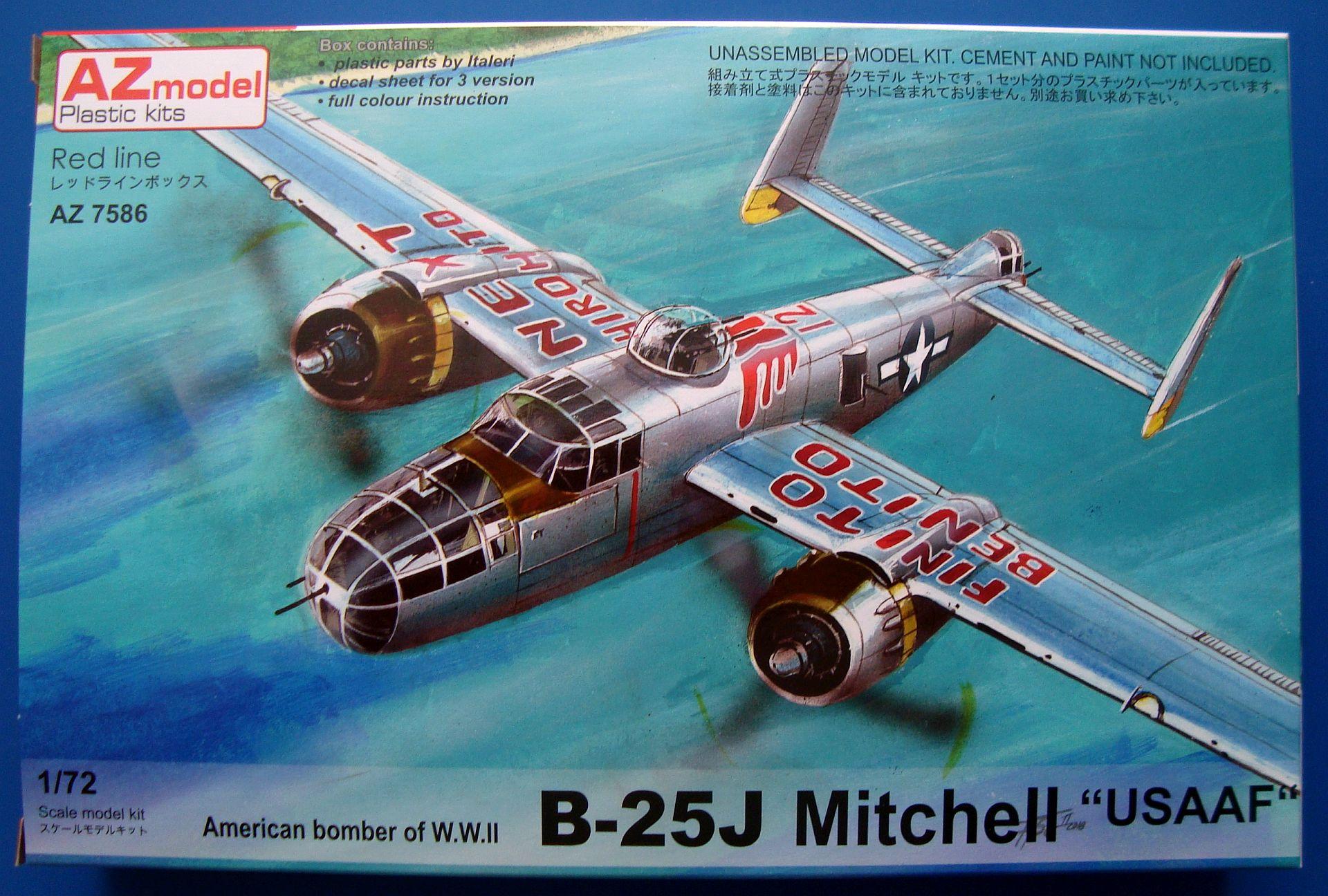 N. A. B-25J MITCHELL, AZ MODEL 1/72, NÁHLED