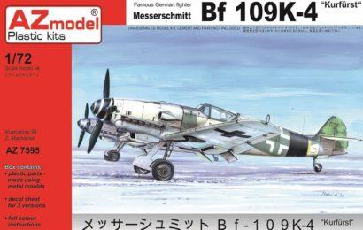 MESSERSCHMITT BF 109K-4, AZ MODEL 1/72, TESTOVACÍ STAVBA