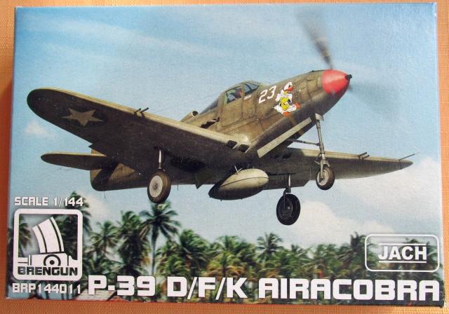 BELL P-39D/F/K AIRACOBRA, 1/144 BRENGUN, NÁHLED DO KRABIČKY