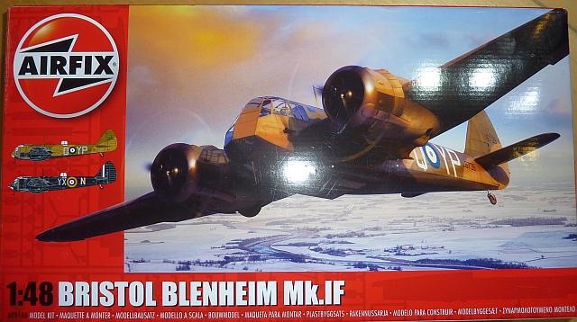 BRISTOL BLENHEIM MK. IF, 1/48 AIRFIX, NÁHLED DO KRABIČKY
