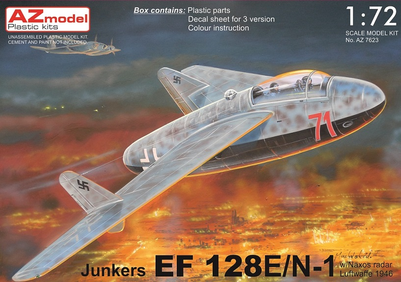 Junkers EF-128E/N-1 1/72 AZ model – Postaveno