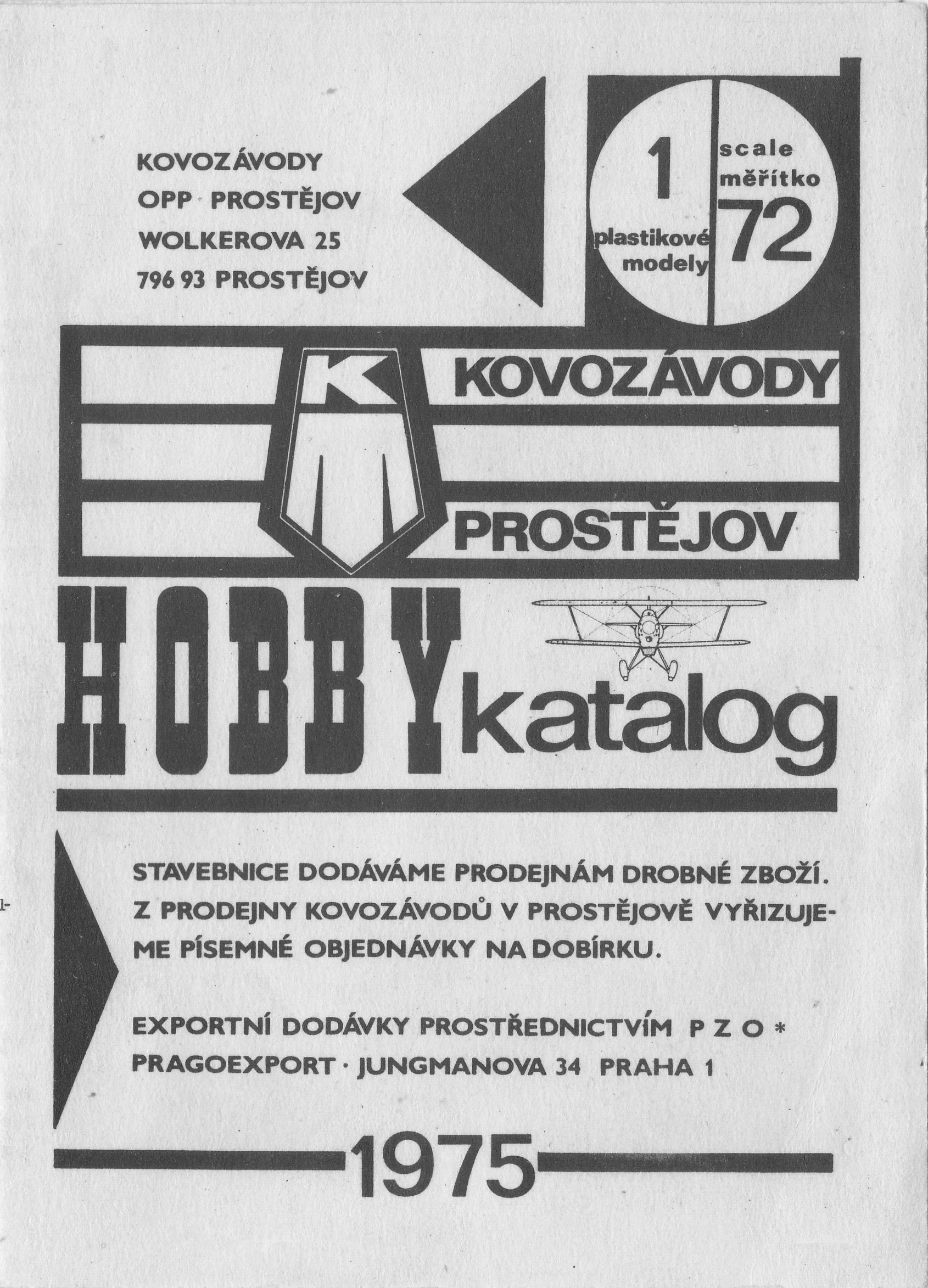 Katalog Kovozávody Prostějov 1975