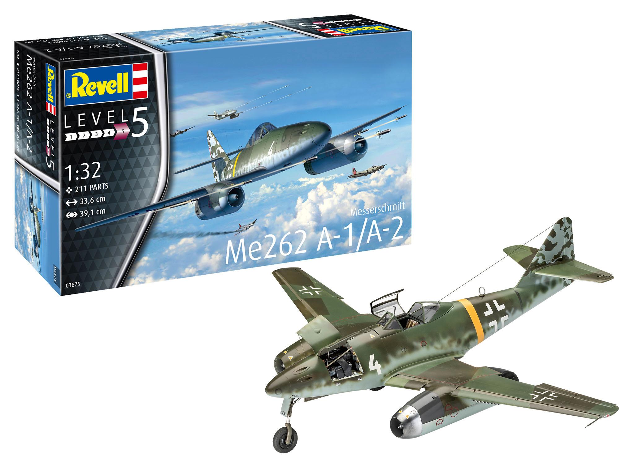 1/32 Messerschmitt Me-262A-1a/A-2a – nová verze Vlaštovky od Revellu vychází