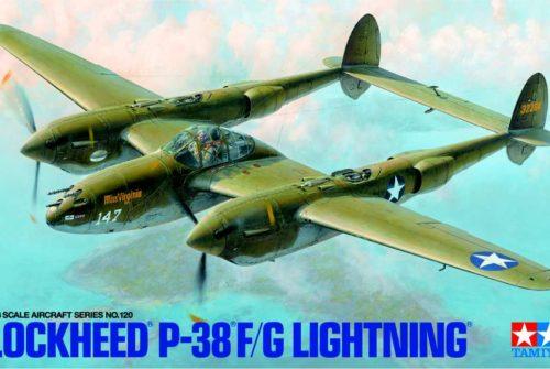 P-38F/G Lightning 1/48 Tamiya – stavba