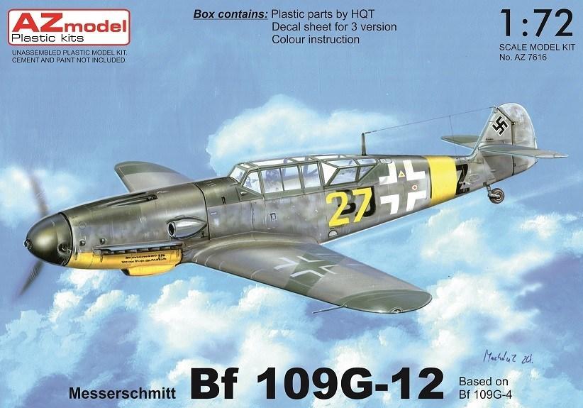 Bf-109G-12(trup G-4) 1/72 AZ model – Pohled do krabičky