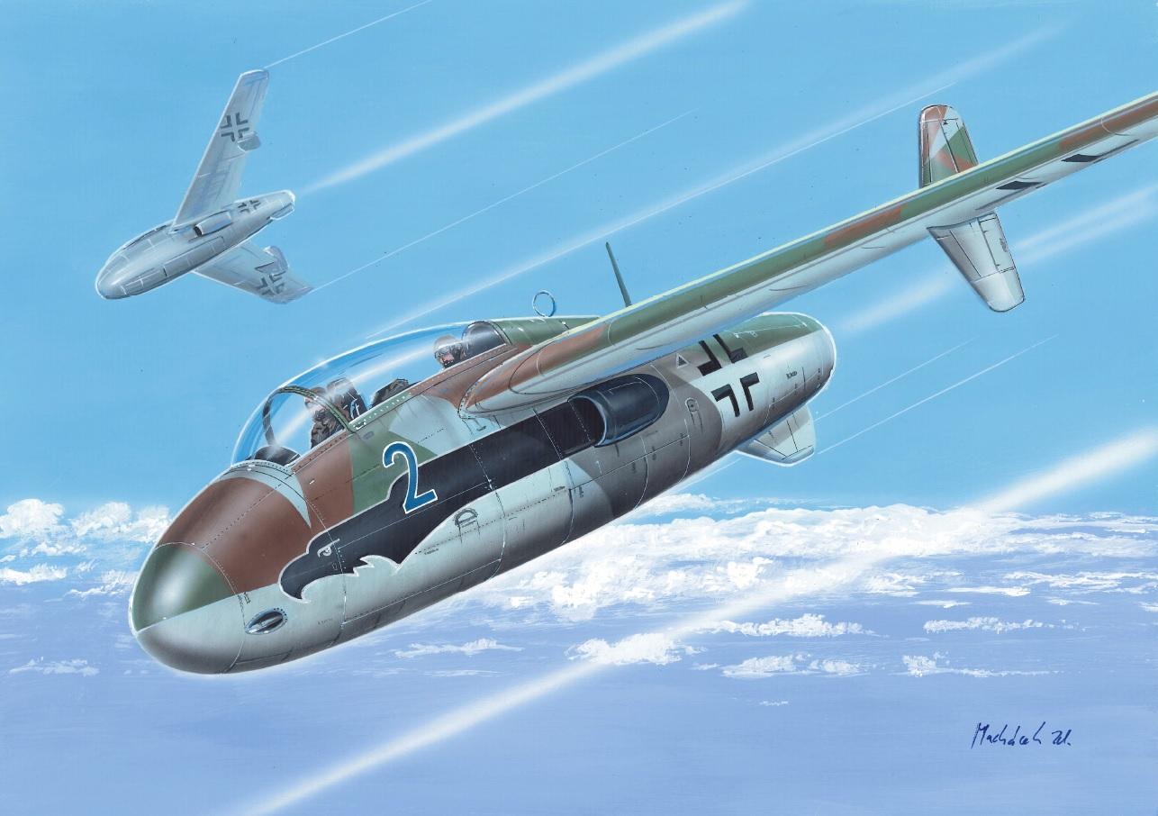 Junkers EF-128C a E/N-1 1/72 AZ model – Pohled do krabičky