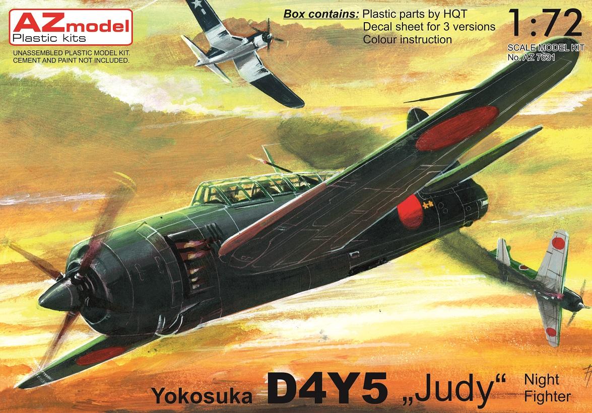 Yokosuka D4Y5 Judy Night Fighter 1/72 AZ model – Postaveno