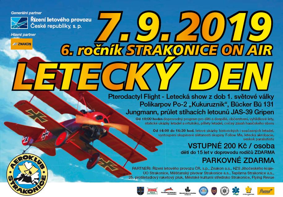 Letecký den ve Strakonicích  7. září 2019    Už zítra!!