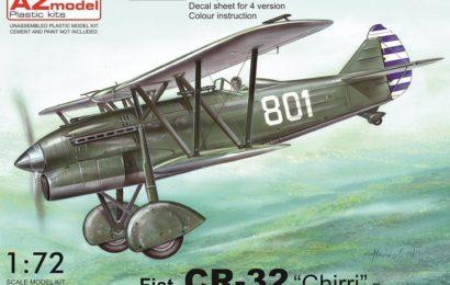 Fiat Cr-32 Chirri 1/72 AZ model – Postavený model