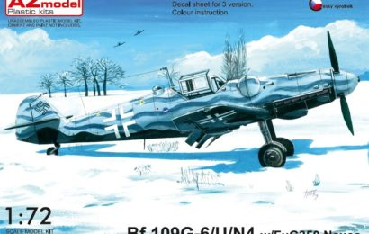 Bf-109 G-6/U4/R6 1/72 AZ model – Postaveno