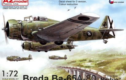 Breda Ba.65 A.80 Spain 1/72 AZ model – Postaveno