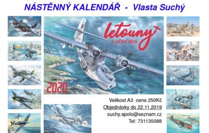 Letecký kalendář 2020 Vlasty Suchého