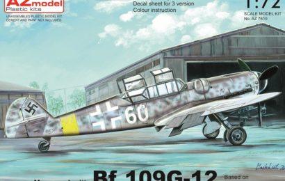 Avia CS-99(Bf-109G-12) 1/72 AZ model – Postaveno