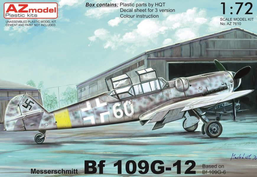 Avia CS-99(Bf-109G-12) 1/72 AZ model – Postaveno