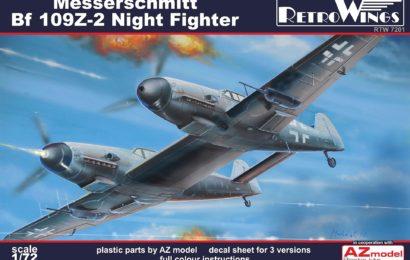 Představujeme – Messerschmitt Bf 109Z, 1/72 RetroWing & AZ model