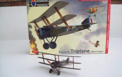 1/72 Sopwith Triplane 'Black Flight' od KP – postaveno Epeemana