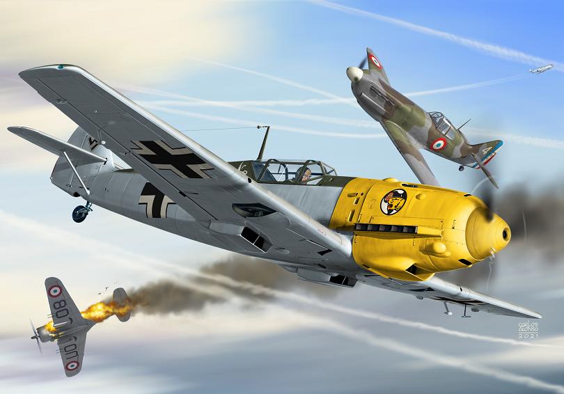 Messerschmitt Bf 109E-1 Emil    1/72   AZmodel