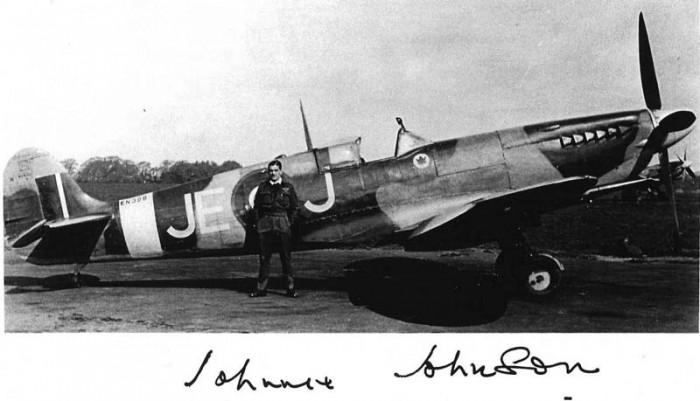 "Spitfire Mk.IX EN398 JE-J W/Cdr. ""Johnnie"" Johnsona"